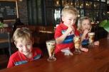 A well earned chocolate milkshake