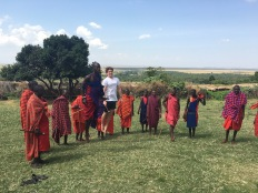Greg & masai dancing